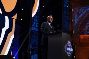 Chicago, IL - April 29, 2016 - Auditorium Theatre: Roger Goodell during the 2016 NFL Draft (Photo by Joe Faraoni / ESPN Images)